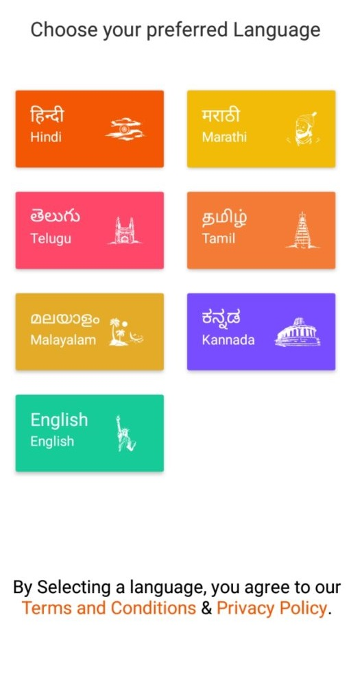 rozdhan select language