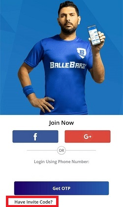 Ballebaazi Create account